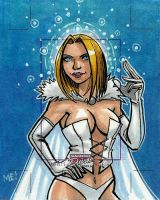 White Queen artist proof sketch card by MasonEasley