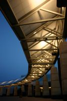 Lighted curved shelter by nwalter
