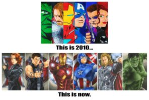 Avengers: Before and After by smlshin