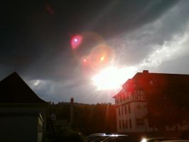 Beautiful Sunset behind dark clouds 1# by DrakebyRS