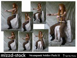 Steampunk Soldier Pack 11 by mizzd-stock