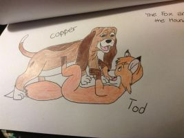 Copper and Tod by darkangel1518