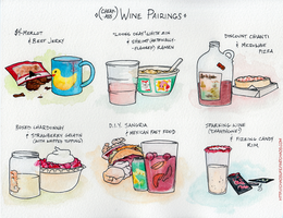 Cheap-Ass Wine Pairings by FindChaos