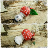 Mushroom necklace with or without face for sale by oOMetalbrideOo