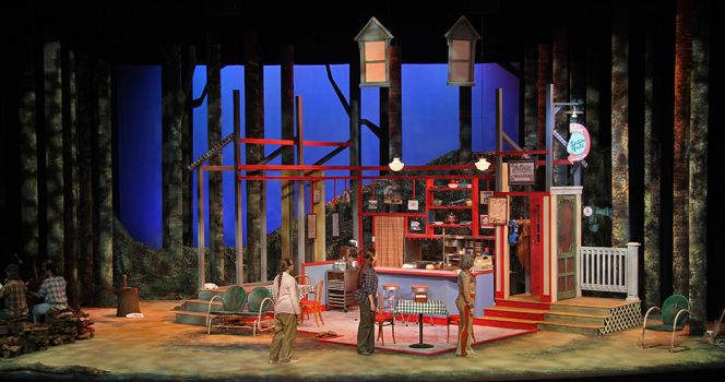 The Spitfire Grill Scene and Lighting Design by LocationCreator