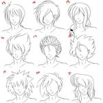 Anime Male Hair Style 3 by RuuRuu-Chan