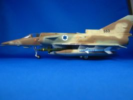 1/48 Scale IAI C-7 Kfir (side) by Coffeebean2