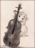 Rat and Cello by Mitch-el