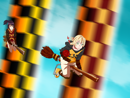 HA: Hufflepuff vs. Gryffindor3 by kentarocks