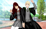 Draco Malfoy and Sophie Redthorn by XxAmix