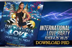 International Love - Party Flyer by LouisTwelve-Design