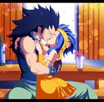 Gajeel x Levy ~ Kiss by DarkMaza