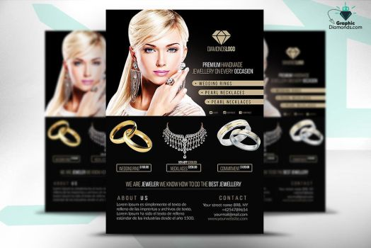 Jewelry Flyer PSD Template by GraphicDiamonds