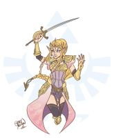 Hylian Warrior Princess by greyallison