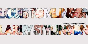 Louis Tomlinson and Larry Stylinson Icons. by likeasckyscraper