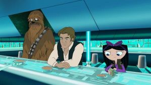Chewbacca, Hans Solo And Pilot Isabella by EvilCorvus