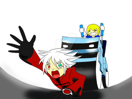 Ragna vs. Jin's New Toy WIP 2 by GuardianAngel72