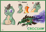 Slugterra OC: Crocsaw ((Mr.Bibbles)) by MistressTuki