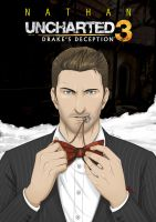 Nathan Drake in Suit - UNCHARTED 3 by iszac87