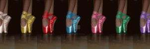 ballet class pointe shoes by PollicinaSweetFairy