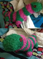 Strawberry the Sock Dino by ShellMinded