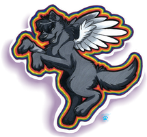 Silverfang Grayscale Sticker by Silverfang98
