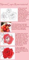 Nevas copic rose tutorial by Nevaart