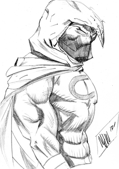 Moon Knight Sketch by mwehner
