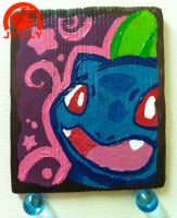 Wood Plank Bulbasaur Painting by Peach-Jelly