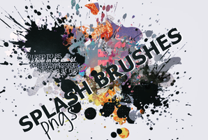 Splash brushes (pngs) by LucyWayne