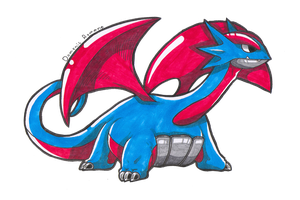 Salamence by Stereospirit
