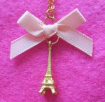 Cute Eiffel Tower Necklace by Rotting-Soul