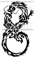 Infinity Dragon And Ram Tribal Design by WildSpiritWolf