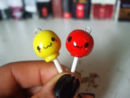 Polymer Clay Lollipop charms by Number1FMAfangirl