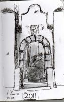 Gateway- 1st drawing of 2011 by dandypandy12