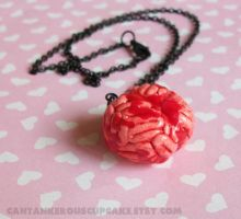 Bloody Brain Necklace by CantankerousCupcake