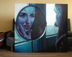 Mirror (oil painting) by Kamlot-ART