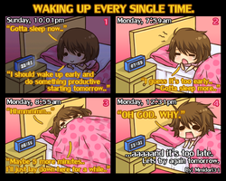 Chibi Reiko #2 - Waking up every single time. by mmidori31
