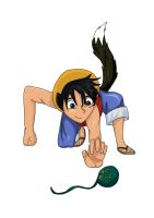 Neko Luffy and the One Piece by Siberian-Kode-Kat