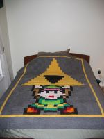 Link Triforce Quilt by quiltoni