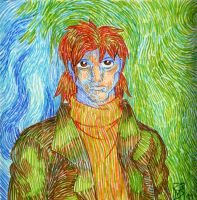 Togusa after Van Gogh by SniperGirl0907