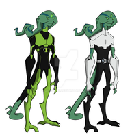 Neurolizard - Ben 10 in Uxorite form - GenRexStyle by Zimonini