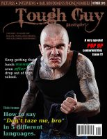 Tough Guy Illustrated Faux Magazine Cover by Abasyyx