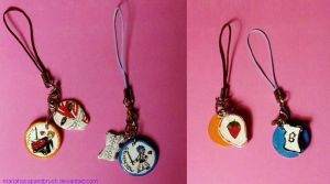AT- Ichigo and Grimmjow cellphone charms by MariaHasAPaintBrush