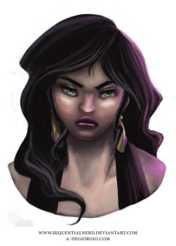 Character Bust - Tahni by sequentialnerd
