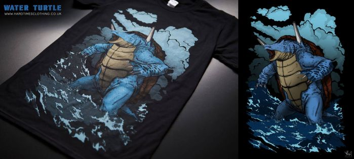 Hard times Clothing - Water Turtle by catandcrown