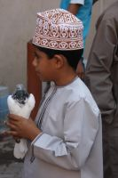 Boy with dove by JuliZib