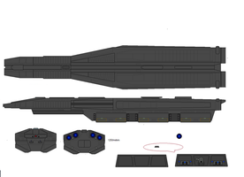 Kiev Class Heavy Cruiser by CrimsonFALKE