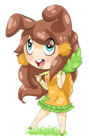 Art Trade// CactusBunny: Carrot Cake Cutie by SometimesCats