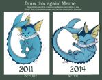 Draw This Again - Vaporeon by Miosita